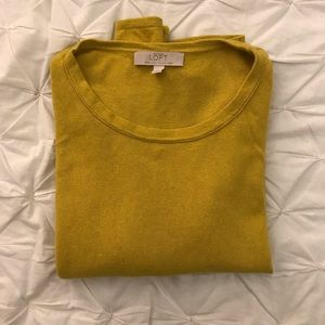 Loft Sweater - Italian Yarn - Mustard Yellow